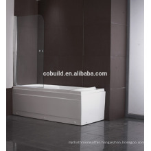 K-538 OEM 6mm 8mm 10mm frameless Bathtub shower screen pvc shower enclosure